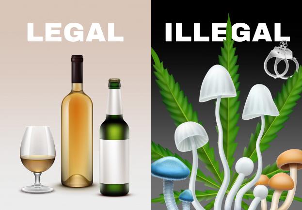 setas y alcohol