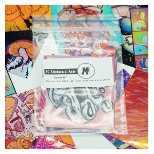 Pack de 10 Stickers. Ilustraciones exclusivas